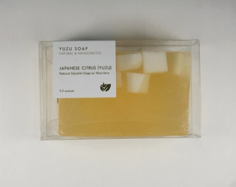 Japanese Citrus (Yuzu) - Glycerin Soap, Aloe Vera Soap, Yuzu Soap
