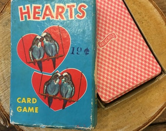 Crazy Fun Vintage HEARTS Card Game, crafting