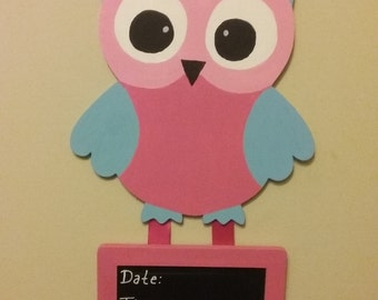 Owl hospital door hanger