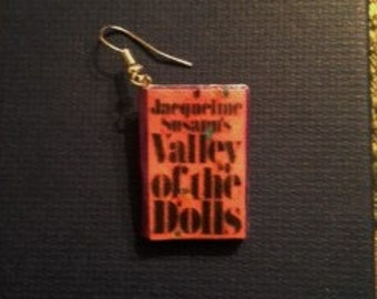 Valley of the Dolls Mini Book Earrings