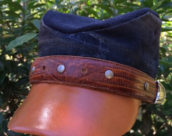 Old-Timey Cadet Cap Leather #26