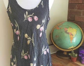 Vintage Floral Sundress, Vintage Clothing