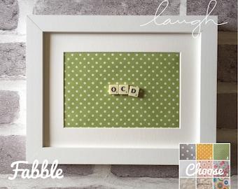 ocd gift - ocd funny - ocd wall decor - ocd birthday - ocd life - ocd scrabble funny - ocd heaven - ocd scrabble tile wall - ocd quirky