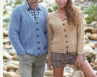 Ladies,Mens and Childrens Cardigan Knitting Pattern.