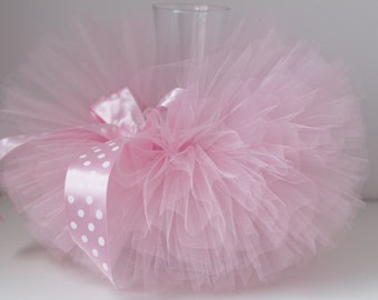 Pink tutu, Soft Pink tutu skirt for girls, birthday tutu. Light pink tutu