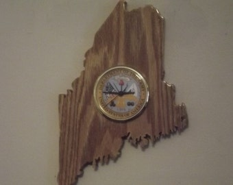 Handcrafted Maine State U.S. Army Clock Aroostook County
