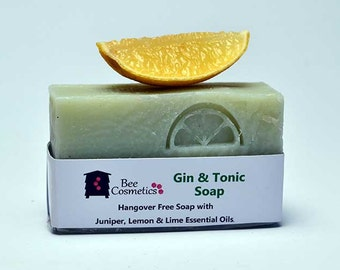 Gin and Tonic Soap, Perfect gift for gin lovers. Best seller.