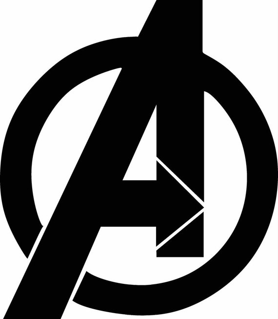 avengers symbol graphgan for crocheting graph super hero logo