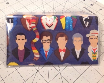 Doctor Who The Doctors Checkbook Cover, Dr Who checkbook wallet cover Whovian gift