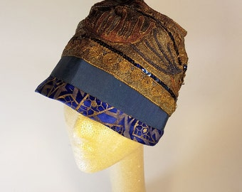 1920's Woven Lame' Flapper Hat