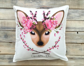 READY TO SHIP! Cute Fawn pillow