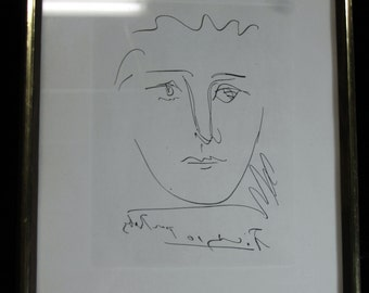 """Original Picasso Etching """"Pour Roby"""" With Cert!!!"""