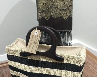 "Lottie abaca(jute)handbag height 10""x13""width"