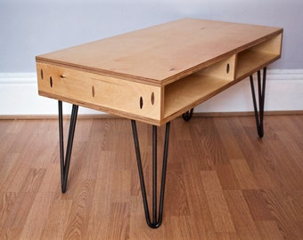 Unavailable listing on etsy for Plywood table hairpin legs