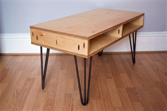 Items Similar To Plywood Coffee Table On Hairpin Legs On Etsy