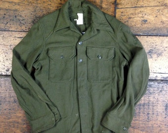 VTG Military Field Wool Button Up Shirt