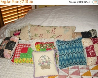 Springfling20 Quilted Pillows Small Total of 9