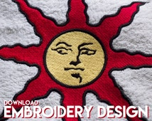 Dark Souls embroidery design keep calm and praise the sun