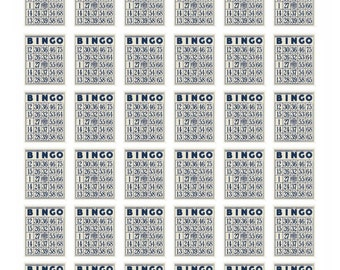 36 Bingo Card Reminder Stickers