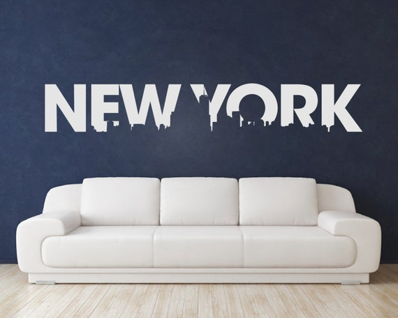 new york wall decal new york stickers new by urbanartworkstore. Black Bedroom Furniture Sets. Home Design Ideas