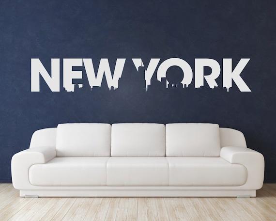 new york wall decal new york stickers new by urbanartworkstore new york city text wall sticker tenstickers