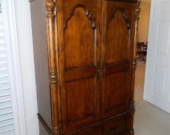 solid wood Armoire/Wardrobe by Lane furniture closet west indies/bahama style