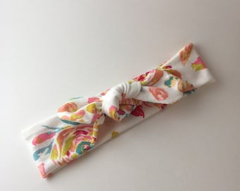 Top knot Headband // Newborn Baby Toddler and Adult sizes