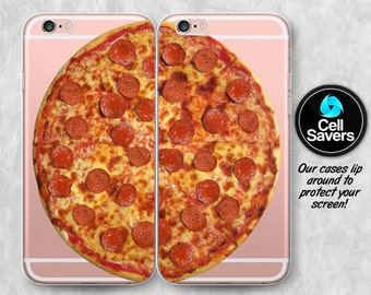 Pizza Clear iPhone 7 + iPhone 6s Pair Case iPhone 6 iPhone 6 + Pair iPhone 6s Plus iPhone 5c iPhone 5 SE Clear Case Pepperoni Pizza Tumblr