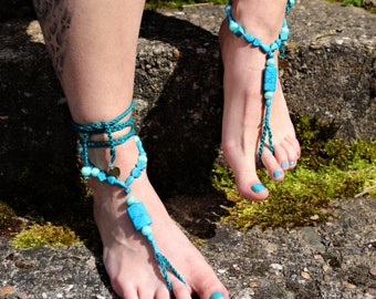 "Barefoot sandals ""Calming turquoise Rocks"""