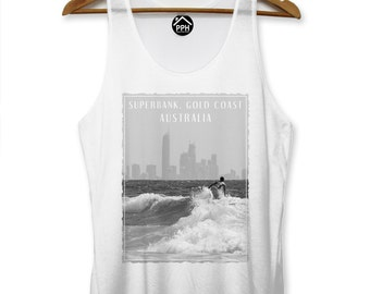 Superbank Gold Coast Australia Vest Surf Men Sleeveless Tank Famous Surfing PP116
