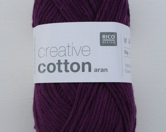 Rico Creative Cotton Aran Cardinal 011
