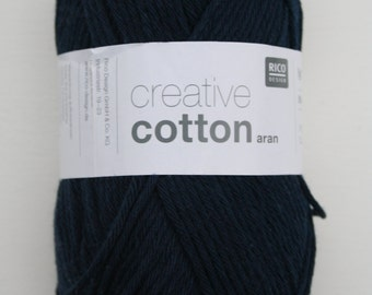 Rico Creative Cotton Aran Dark Blue 038