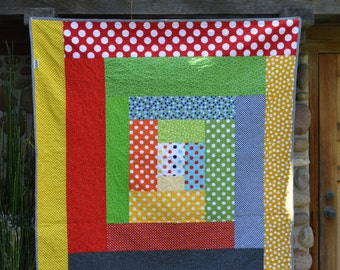 Baby quilt/ Modern Bright  Simple