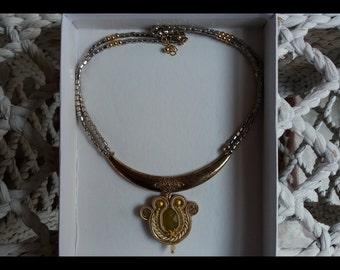 Original gold color necklace