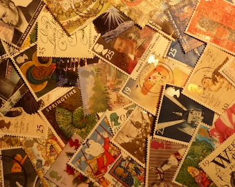 British postage stamps UK postage stamps 1990's  Christmas card scrapbooking supplies