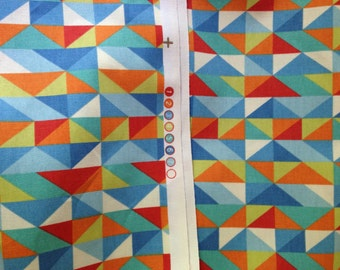 Fabric/Printed Duck/Multi Color/Geometric/54""