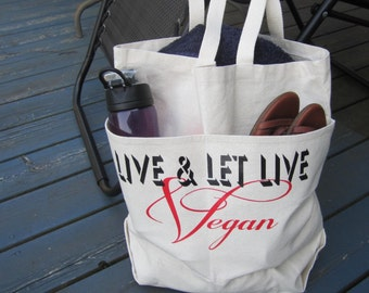 LIVE & LET LIVE - Vegan large tote