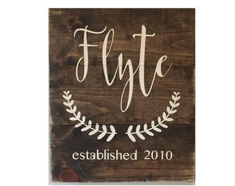 "Personalized Family Name Sign - Rustic Wood Sign - Personalized Sign - Home Decor - 18"" X 22"""
