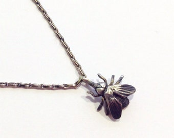 925 Silver chain with bow tie pendant, sterling silver necklace.