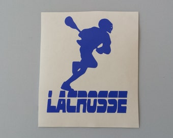 LACROSSE MALE LAX Vinyl Decal .. Free Shipping .. Yeti Window Car Sticker Laptop Wine Glass Beer Mug Frame Sports Bottle Organizer