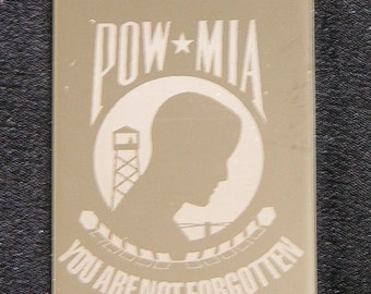 Military Dog Tag POW MIA  Dog Tag You are not Forgotten