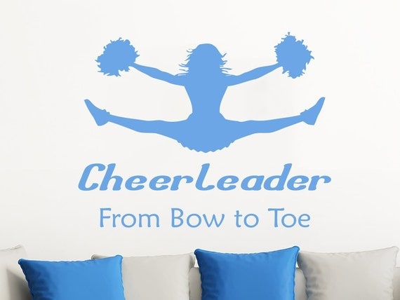 Wall Decals Quotes Vinyl Sticker Decal Quote Cheerleader From