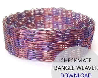 Checkmate Bangle Weaver Project Download by Kleshna