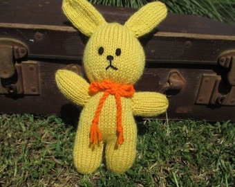 Hug me Bunny: A Hand knitted Rabbit Friend
