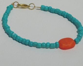 4mm Turquoise Seed Bracelet