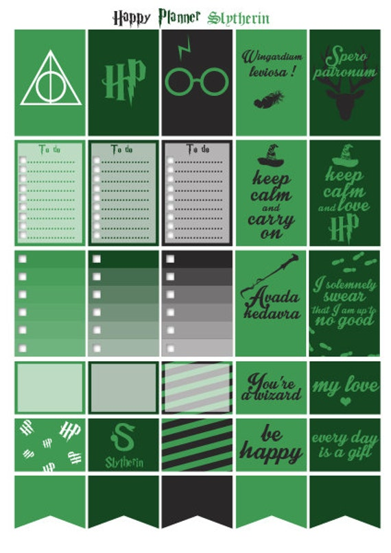 Harry Potter Slytherin With Green Color Printable