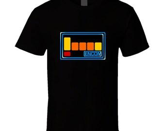 Tron Encom Computer Logo 1982 Sci-fi Movie T-shirt Retro New Basic Tee