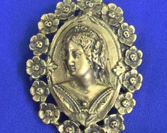 Vintage cameo relief pendant