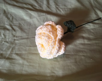 Crocheted Yellow Flower