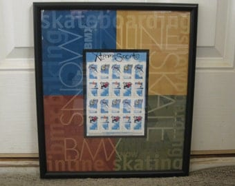 Xtreme Sports Framed & Matted Postage Stamps
